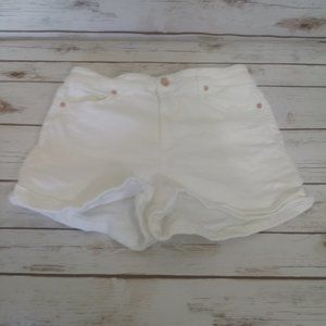 Guess White Denim Jeans Shorts Size 28